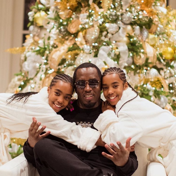 """Sean """"Diddy"""" Combs, D'lila Star Combs, Jessie James Combs"""
