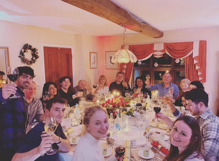 Nick Jonas, Priyanka Chopra, Joe Jonas & Sophie Turner
