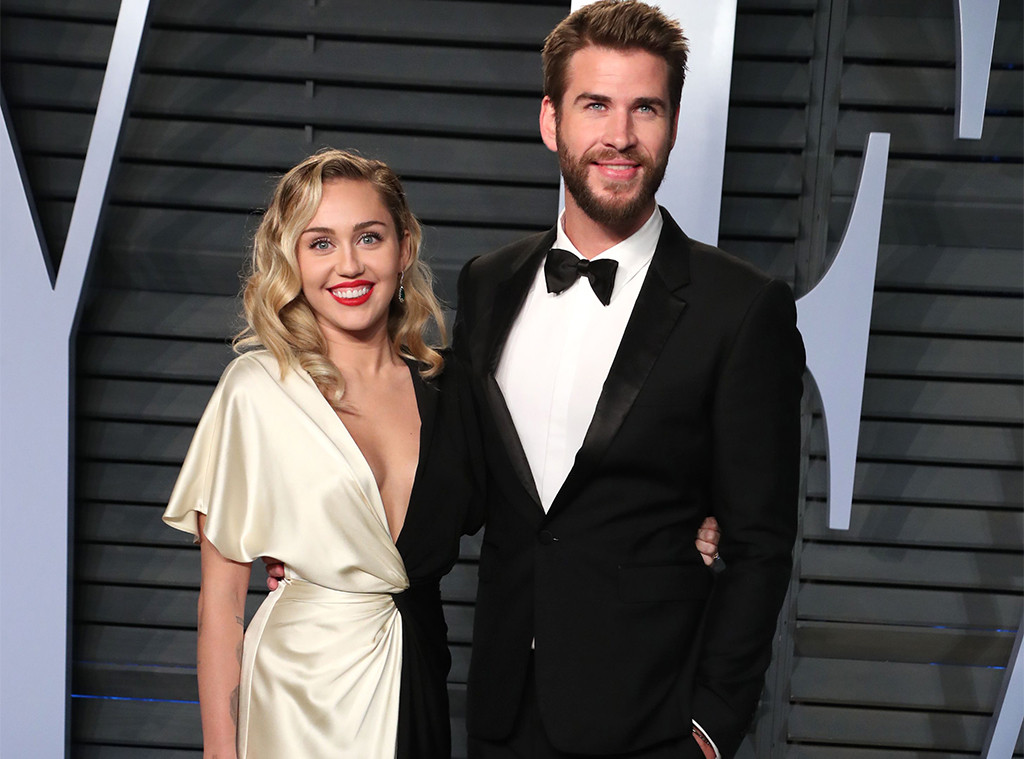 Miley Cyrus, Liam Hemsworth, Vanity Fair Oscar Party 2018