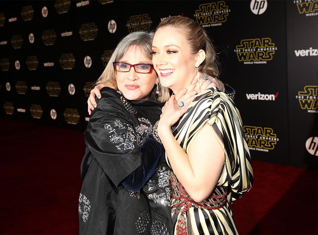 Carrie Fisher, Billie Lourd, 2015