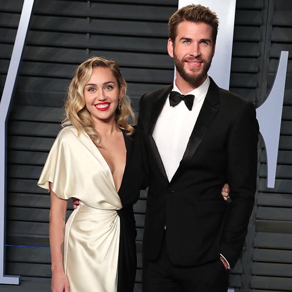 Miley Cyrus, Liam Hemsworth, Vanity Fair Oscar Party 2018