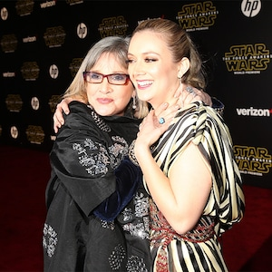 Carrie Fisher, Billie Lourd, 2015
