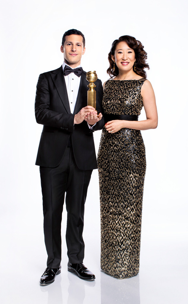 Golden Globes 2019, Andy Samberg, Sandra Oh