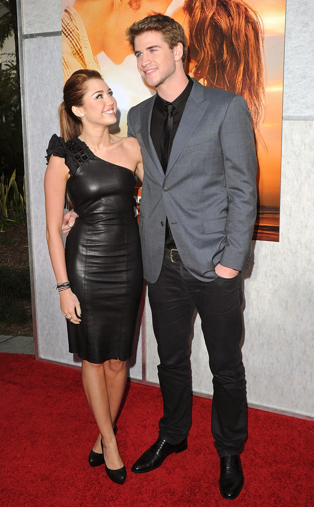 Liam Hemsworth, Miley Cyrus, The Last Song premiere, 2010