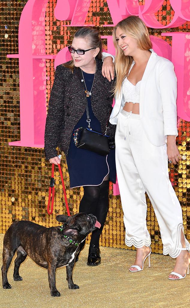 Carrie Fisher, Billie Lourd, 2016