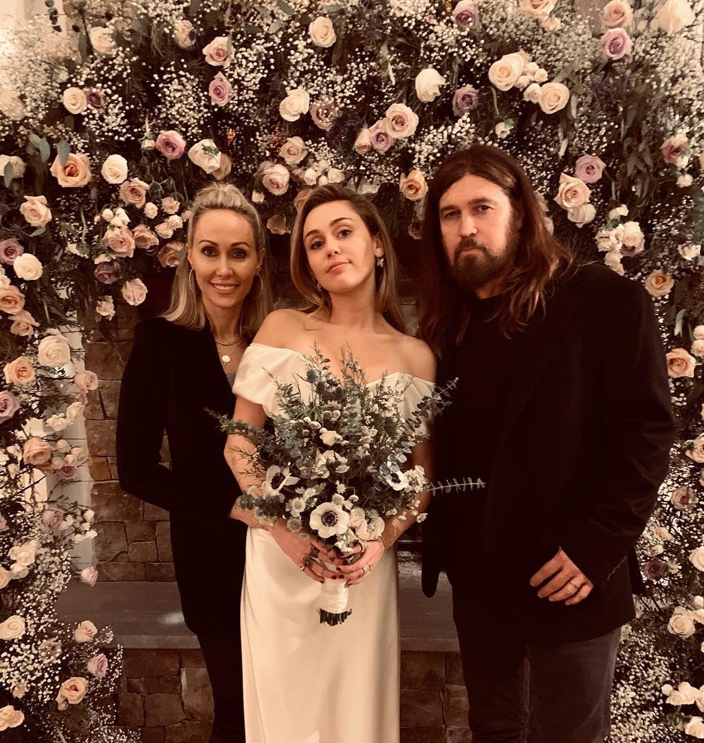 Tish Cyrus, Miley Cyrus, Billy Ray Cyrus, Wedding
