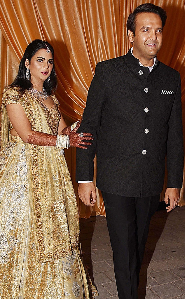 Isha Ambani & Ananda Piramal -  The couple may not be as well known outside of India, but they both come from billionaire families and they had Beyoncé   perform at the traditional sangeet, held the night before they swapped vows onDec. 12 at the bride's family home in Mumbai—a 27-story custom home, that is.