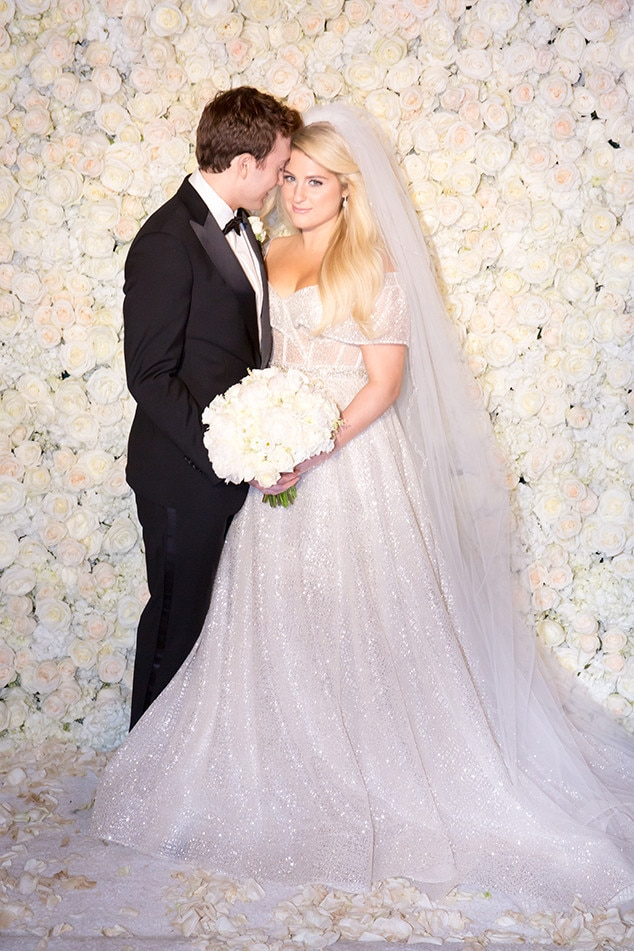 Meghan Trainor -  The singer wore a gorgeous Berta dress for her wedding to Daryl Sabara, which took place on her 25th birthday.