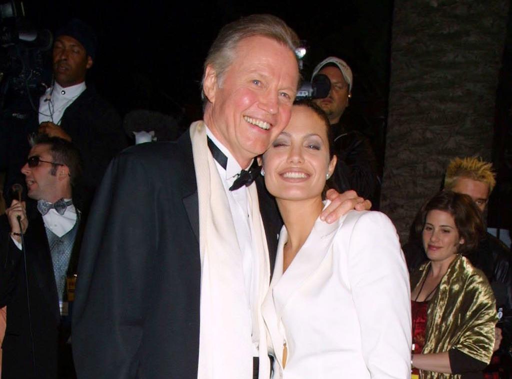 Jon Voight, Angelina Jolie, 2001 Oscars, Vanity Fair Party