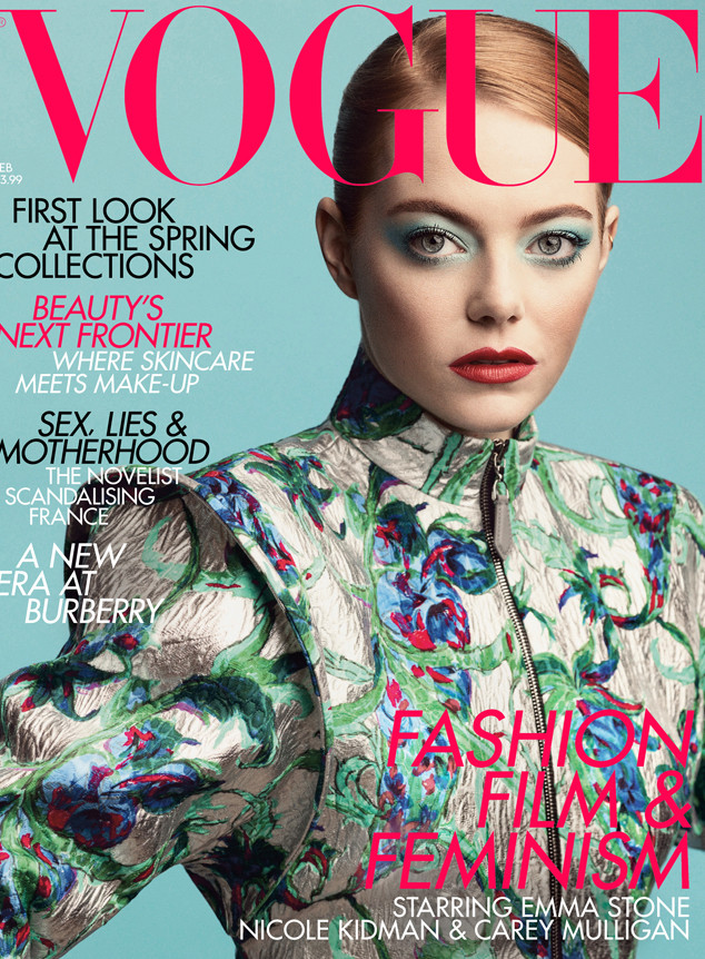 Emma Stone,Vogue Magazine,Cover