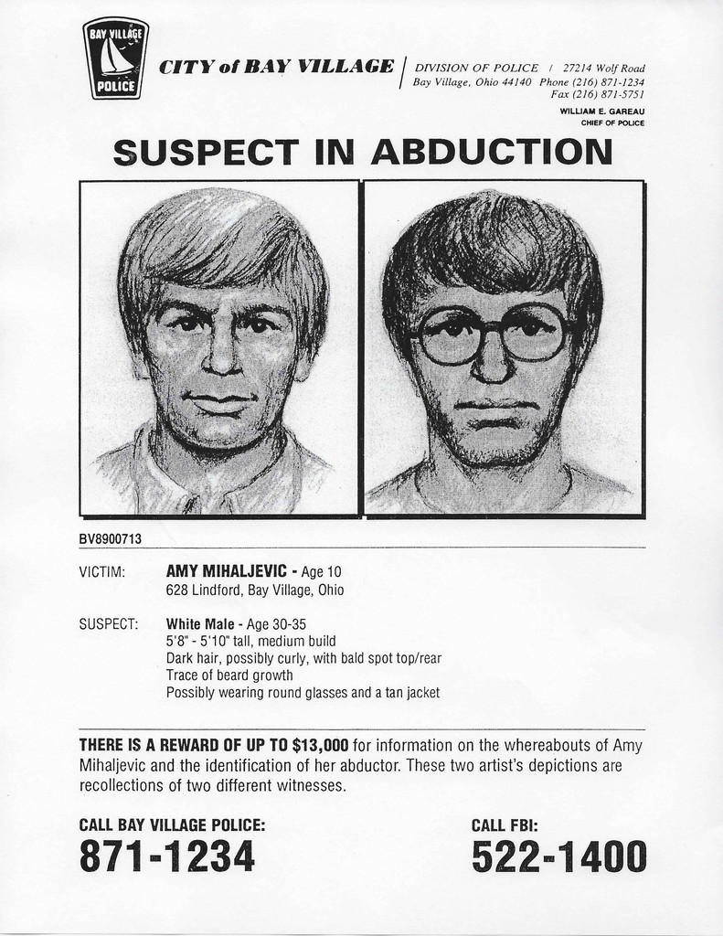Lake Erie Murders, Amy Mihaljevic, Suspect Poster