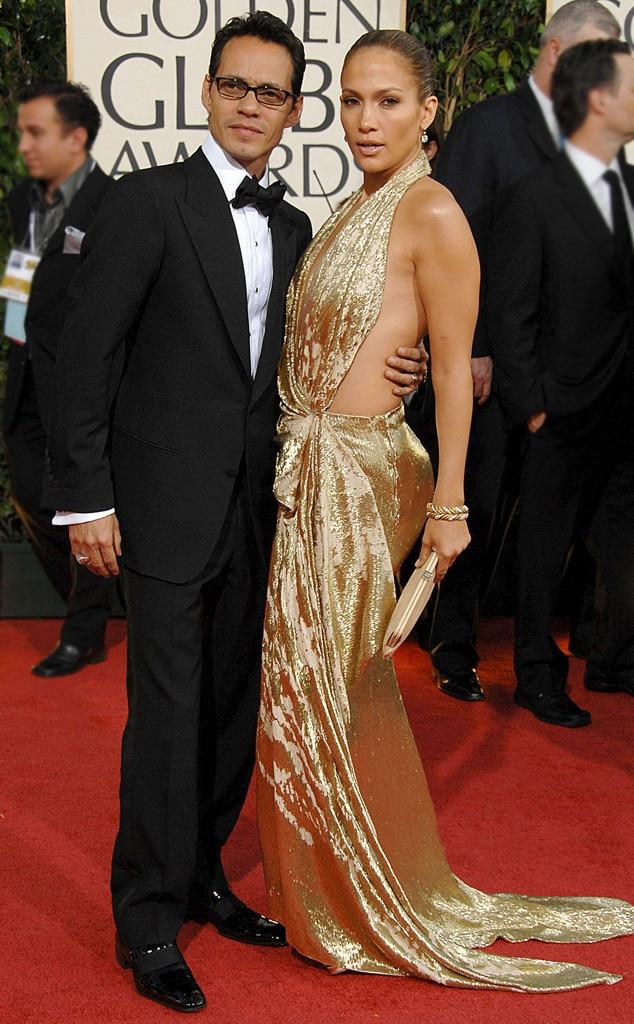 2009 Golden Globes, Marc Anthony, Jennifer Lopez