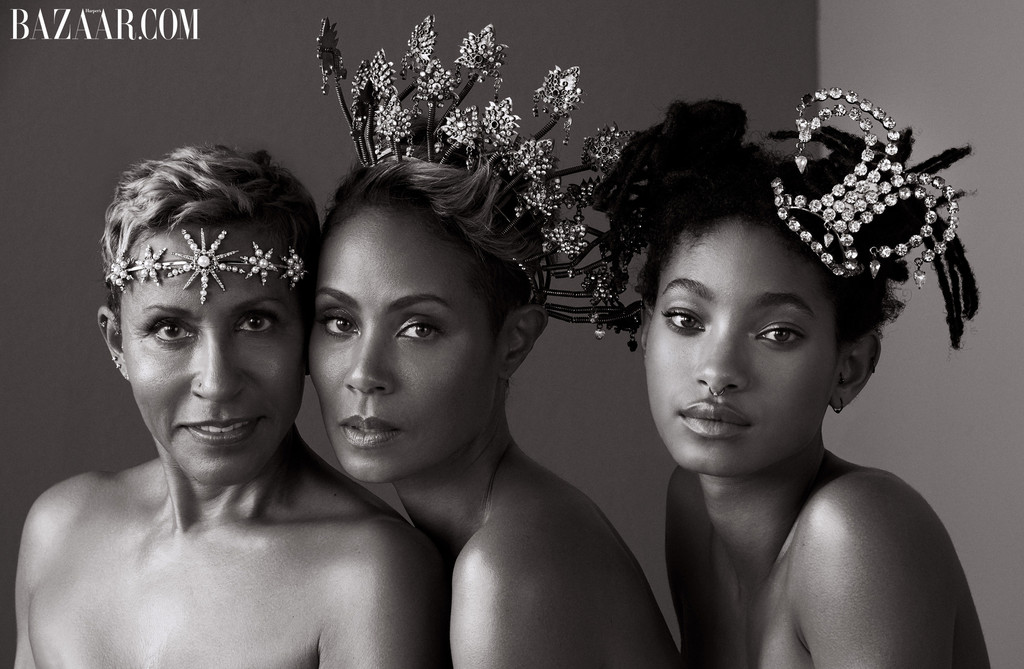 Jada Pinkett, Willow Smith, Adrienne Banfield-Norris, Harper's Bazaar