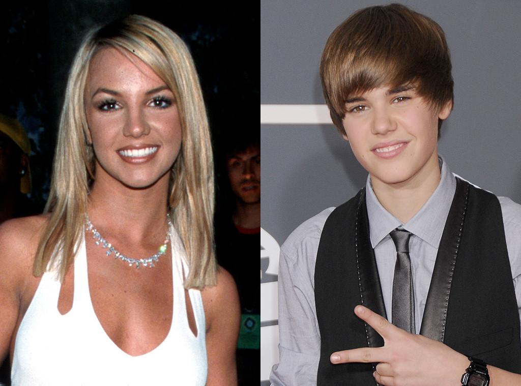 Britney Spears, Justin Bieber, First Grammys