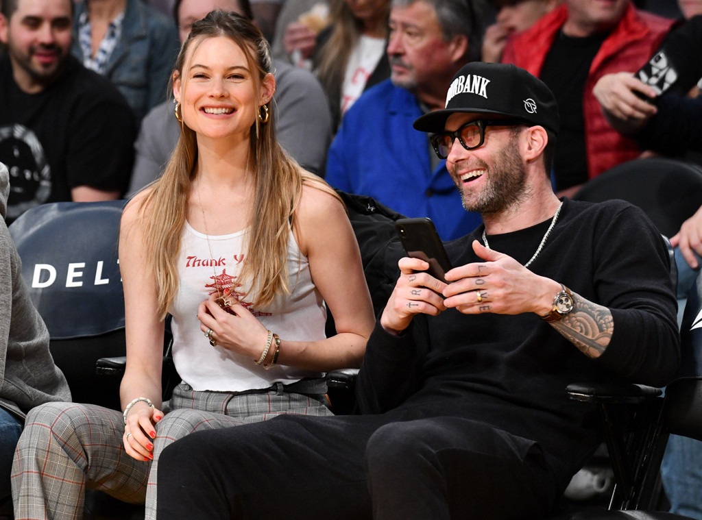 Adam Levine And Behati Prinsloo Celebrate Victoria's