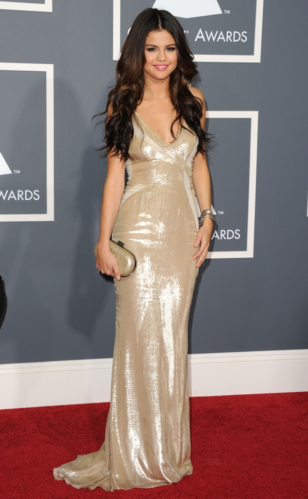 Selena Gomez -  The singer made a dazzling debut when she attended the 53 rd Annual Grammy Awards in 2011.