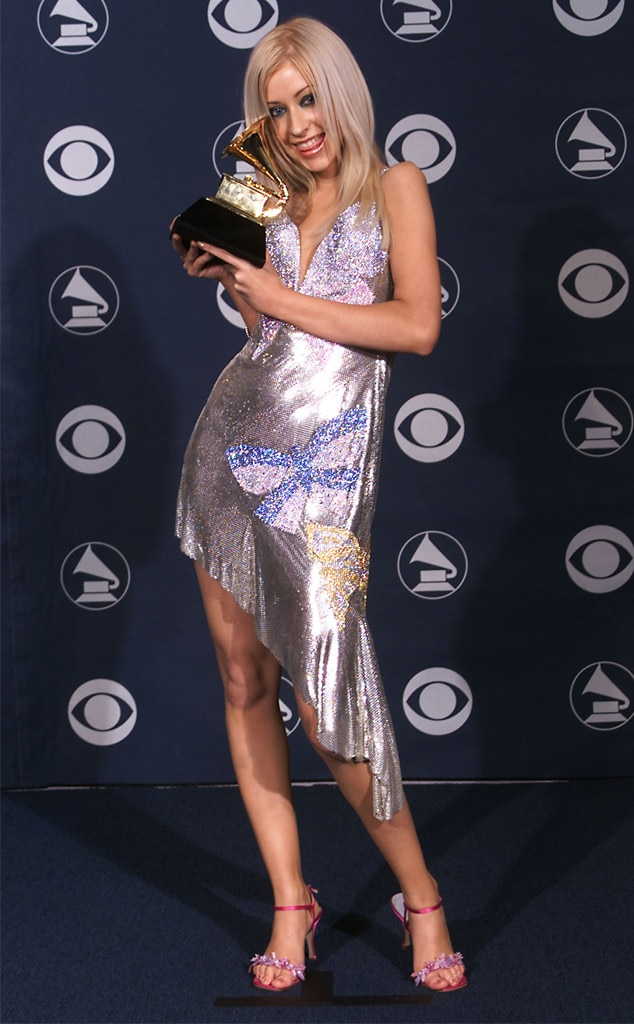 Christina Aguilera -  Aguilera looked  beautiful  as she attended her first Grammys in 2000. She ended up taking home the trophy that year for Best New Artist.
