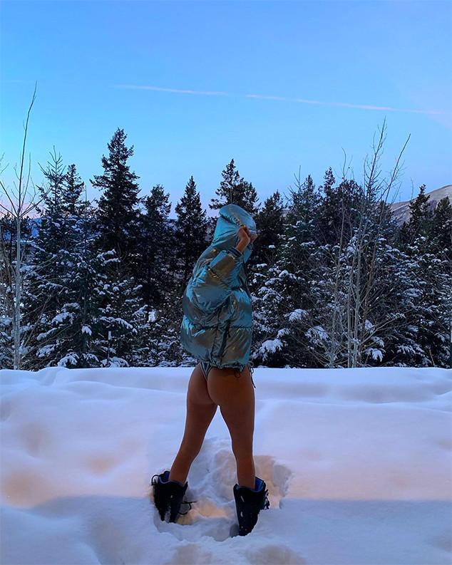 Kourtney Kardashian, Bikini, Snow, Aspen, Instagram