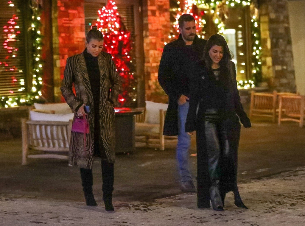 Kourtney Kardashian, Sofia Richie, Scott Disick