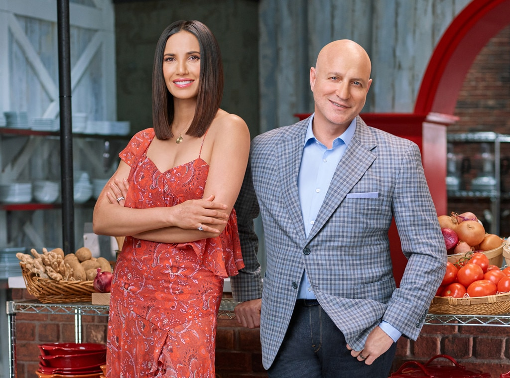 Padma's Looks -  Top Chef host Padma stunned audiences—and the chefs—with new looks week after week. The contestants would make wagers on what color she'd pop up in.