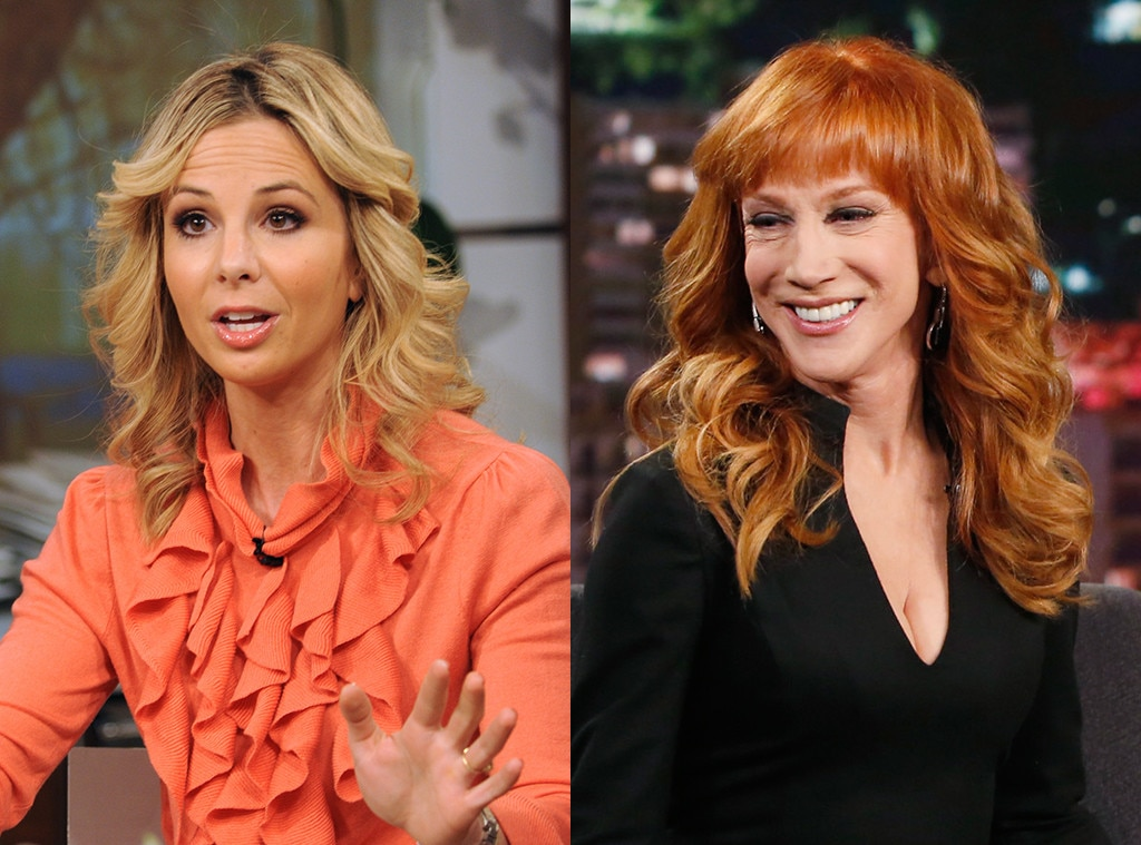 Elisabeth Hasselbeck vs. Kathy Griffin -  When  Kathy Griffin  stopped by  The View  in June 2010, she was there to promote her now-defunct reality show  My Life on the D List  and immediately proved she wasn't there to show  Elisabeth Hasselbeck  the warmth she had to offer to the other hosts as she greeted her with a mere handshake as opposed to the hugs everyone else received. And when  Sherri Shepherd  asked the caustic comedienne if she ever felt bad about some of the things she's said about people in the name of comedy, her right-leaning co-host couldn't contain her disinterest as she visibly yawned and then  went in .