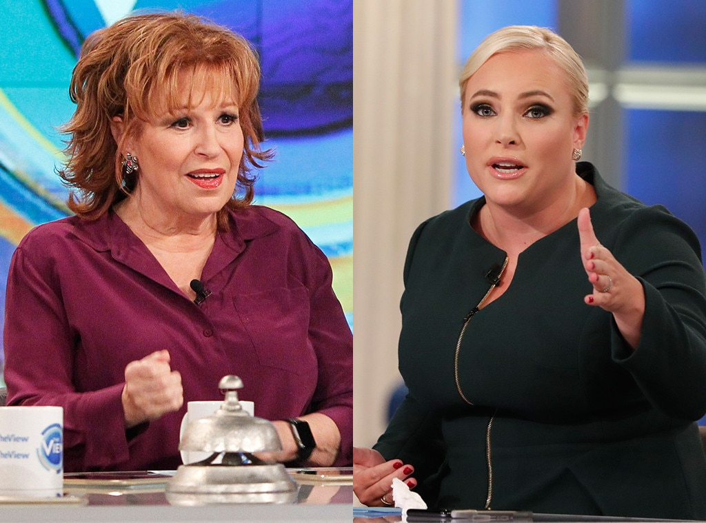 Joy Behar vs. Meghan McCain, Part 1 -  When a February 2018 Hot Topics  conversation  turned to former White House aide  Rob Porter , who had just resigned over allegations of spousal abuse, it proved fertile ground for resident liberal  Joy Behar  and resident conservative  Meghan McCain  to find themselves in the midst of  a screaming match . McCain's beef?