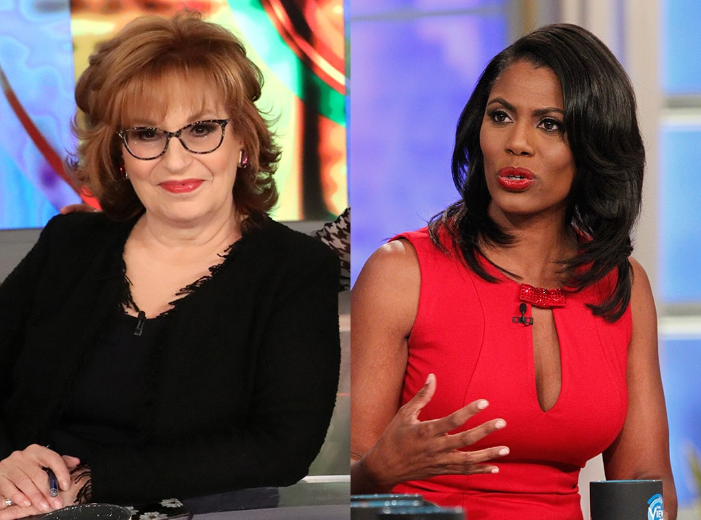 Joy Behar vs. Omarosa Manigault -  When  Omarosa Manigault appeared  on the show in January 2017, she was in the early days of her position as Director of African-American Outreach in the Trump Administration and, as such, was still in full-on yes-man mode. And that meant she was primed to spar with  Joy Behar , one of the president's biggest critics at the table.