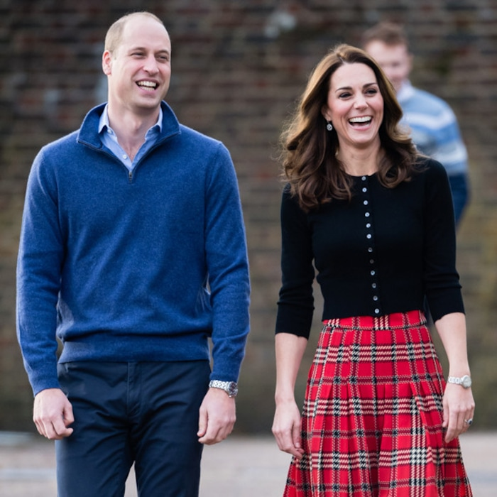 46be012de Kate Middleton Looks Festive in Plaid for Military Christmas Party With  Prince William | E! News Australia
