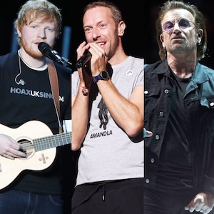 Ed Sheeran, Chris Martin, Bono