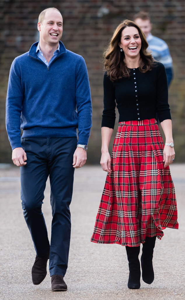 Kate Middleton Looks Festive in Plaid for Military Christmas Party ...