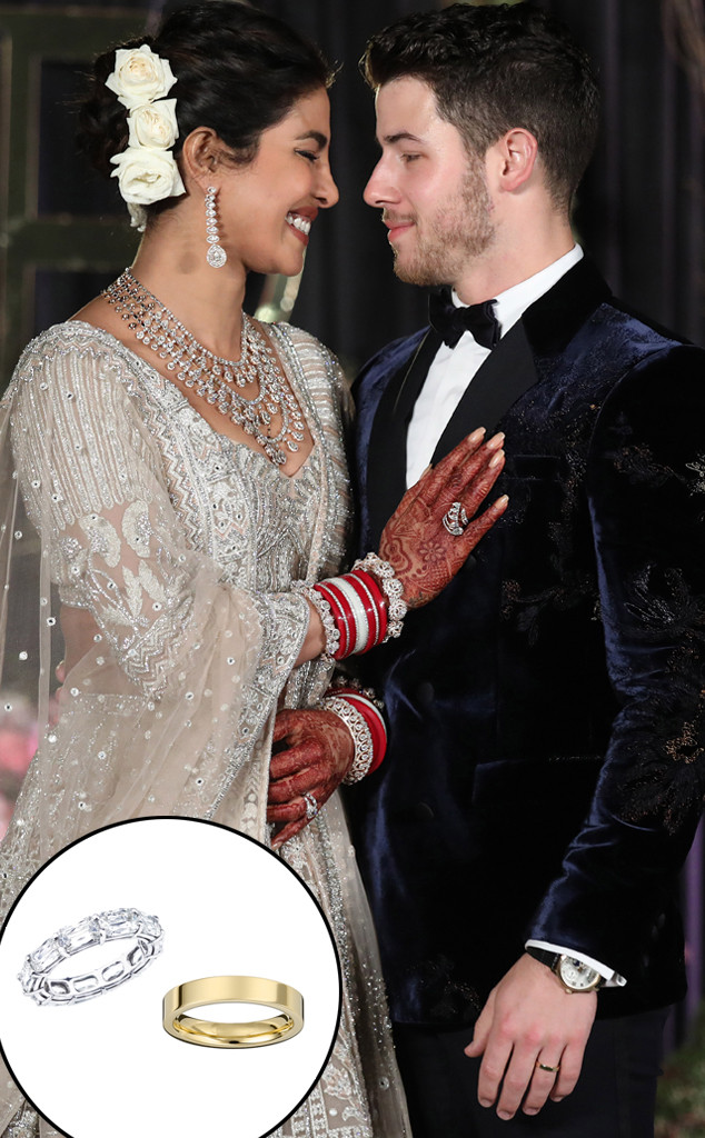 See Priyanka Chopra And Nick Jonas Custom Wedding Rings Up Close
