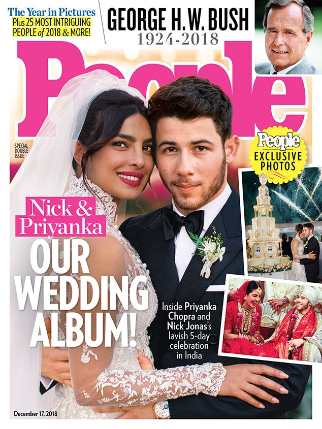 The Happy Couple -  The actress and the singer grace the cover of  People  and give fans the first sneak peek of the wedding photos. How gorgeous is her Ralph Lauren gown?
