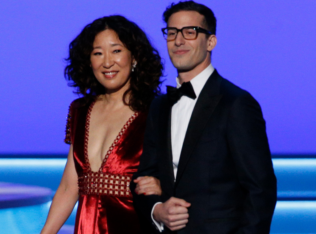 Why Sandra Oh and Andy Samberg Are Absolutely Perfect Golden Globes