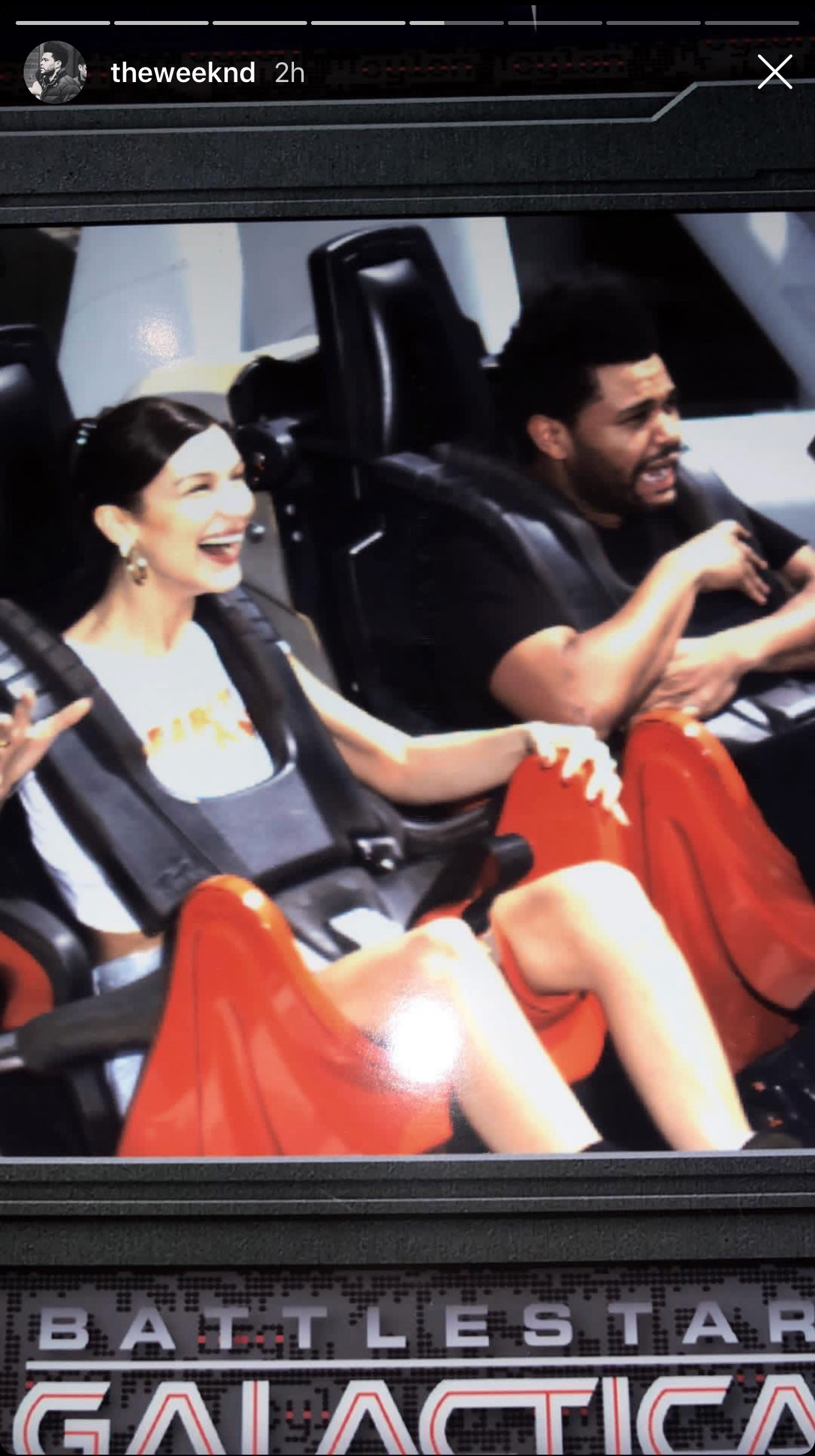 Bella Hadid & The Weeknd in Singapore