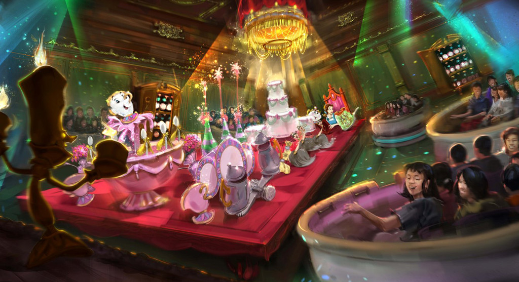 Tokyo Disney Resort, Beauty and The Beast, Artist Rendering