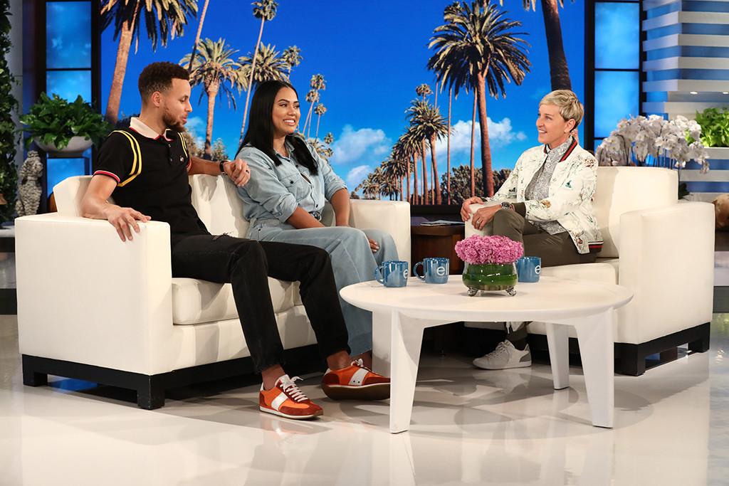 Stephen Curry, Ayesha Curry, Ellen DeGeneres