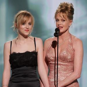 Dakota Johnson, Melanie Griffith, Golden Globes