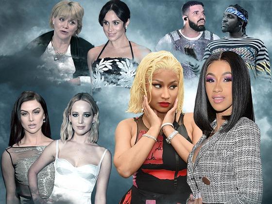 2018's Biggest Celebrity Feuds: It Wasn't Just Nicki Minaj and Cardi B That Were Beefing This Year