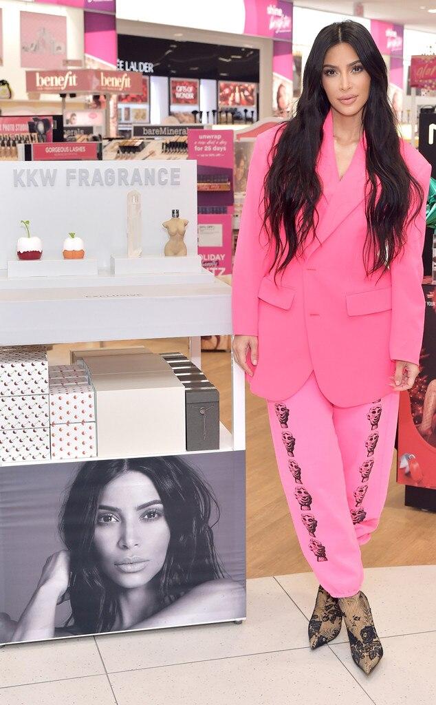 Kim Kardashian -  The entrepreneur attended KKW BEAUTY at Ulta beauty in Calabasas looking pretty in bubblegum pink.