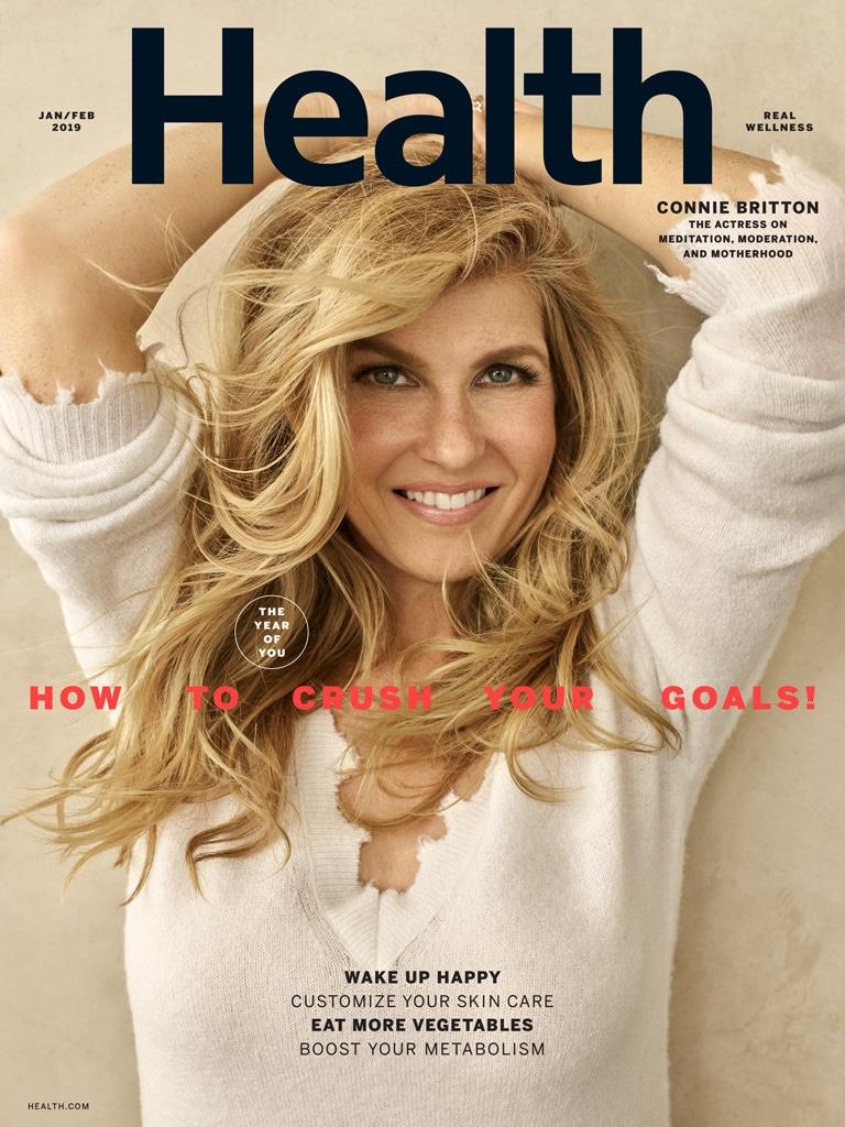Connie Britton, Health Magazine