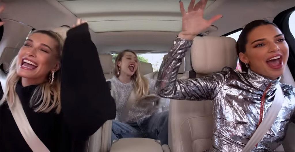 Miley Cyrus, Hailey Baldwin, Kendall Jenner, Carpool Karaoke