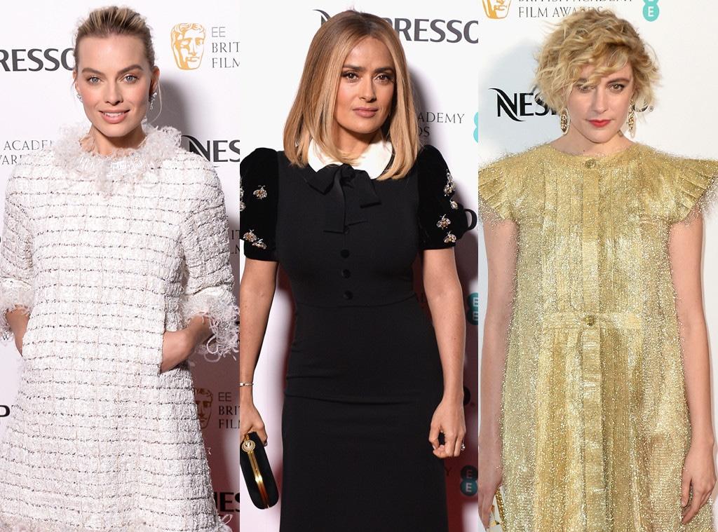 Margot Robbie, Salma Hayek, Greta Gerwig, BAFTA Nominee Party