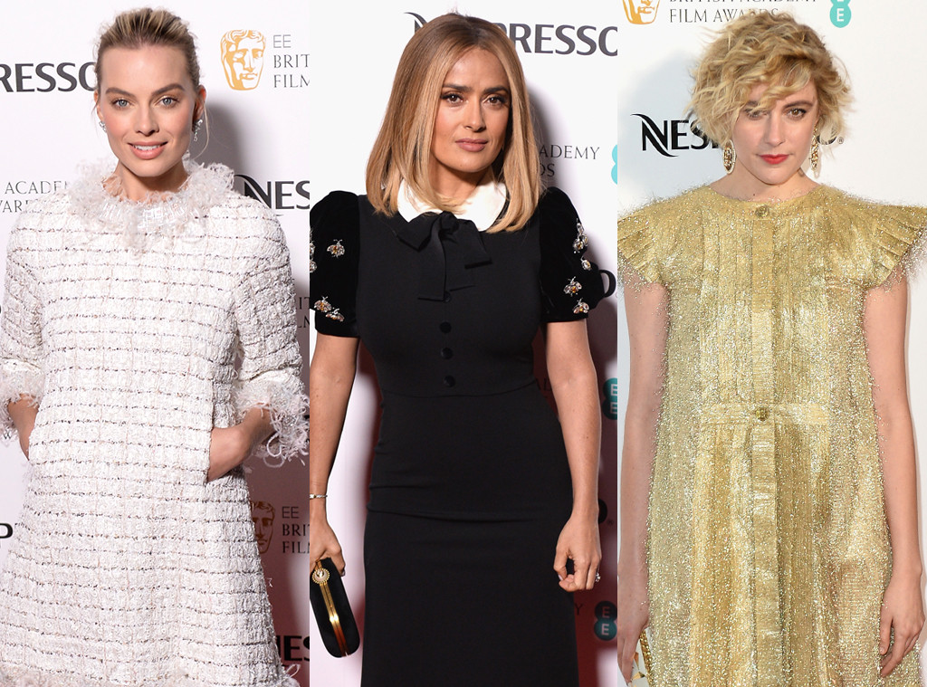 Margot Robbie, Salma Hayek, Greta Gerwig, BAFTA Nominee Party