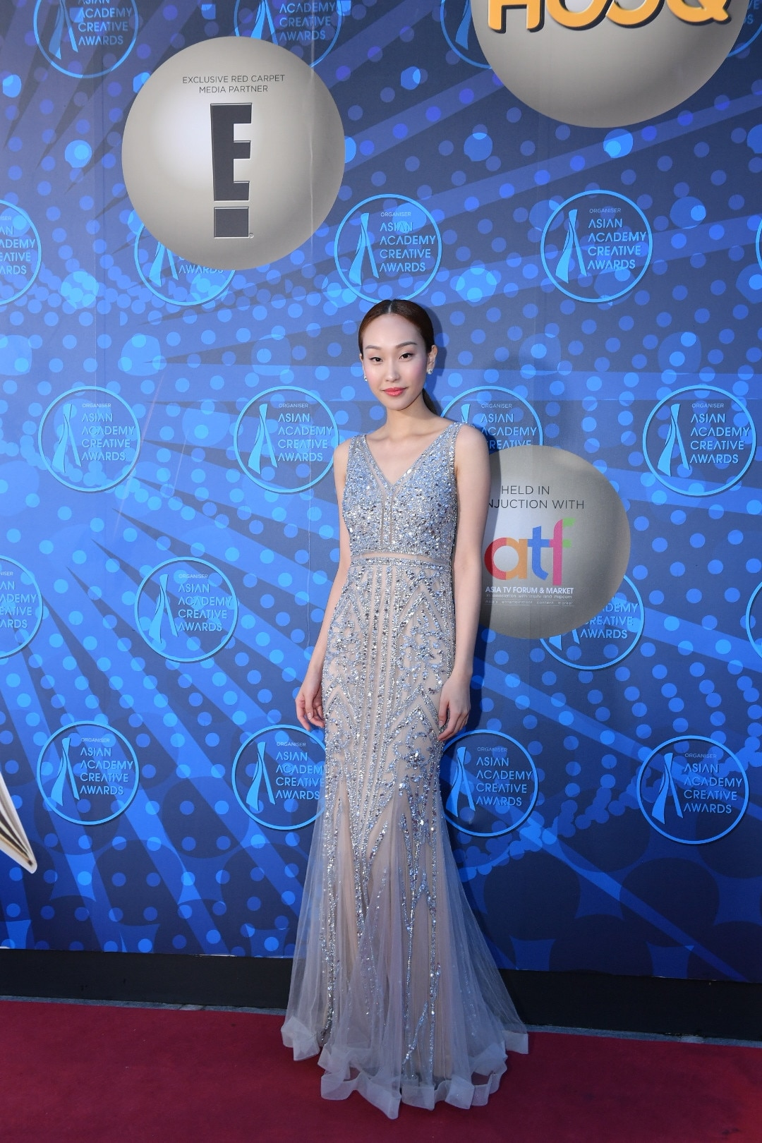 Constance Lau, 2018 AACAs Red Carpet