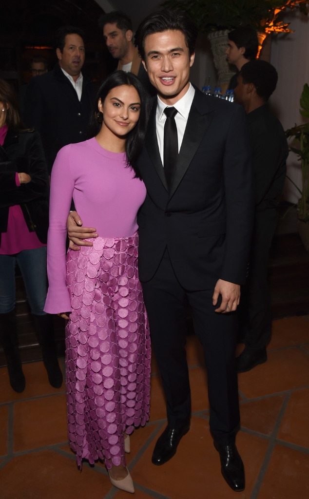 Camila Mendes & Charles Melton -  Sizzling couple! The  Riverdale  stars are seen mingling around at the 2018 GQ Men of the Year party in Beverly Hills, Calif.