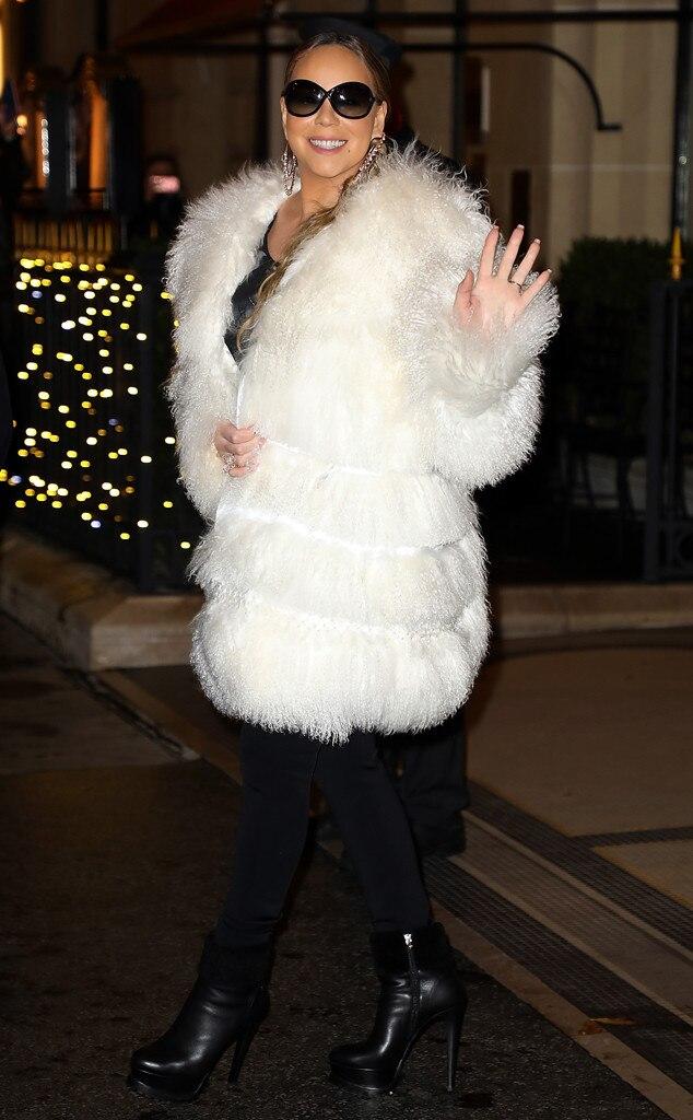 Mariah Carey -  Furry fashion!