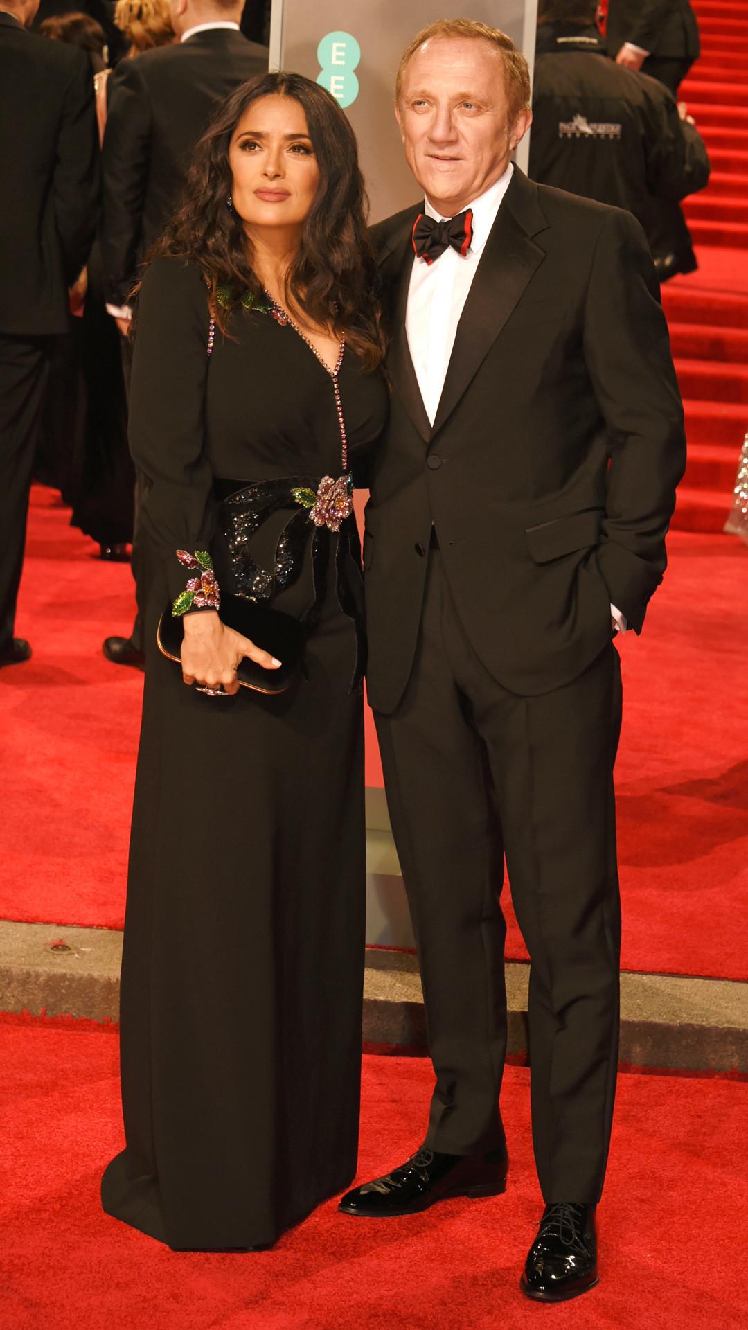 Salma Hayek, Francois-Henri Pinault, BAFTAs, 2018