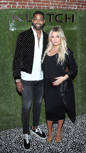 Khloe Kardashian, Tristan Thompson, Pregnant, Baby Bump, 2018 NBA All-Star Weekend Party