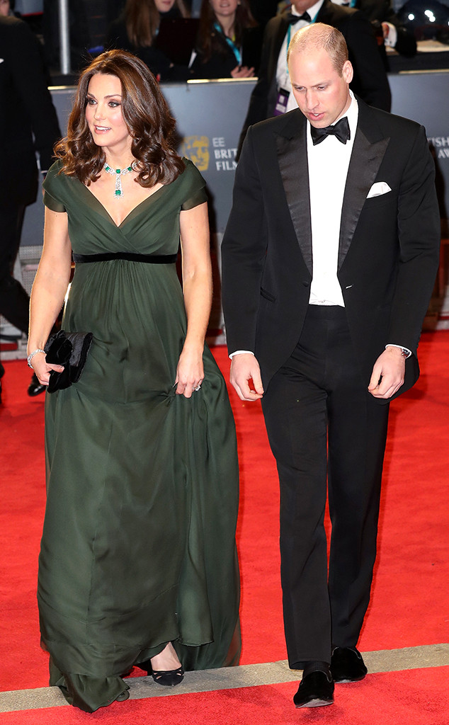 Kate Middleton Shows Baby Bump In Flowing Dress At 2018