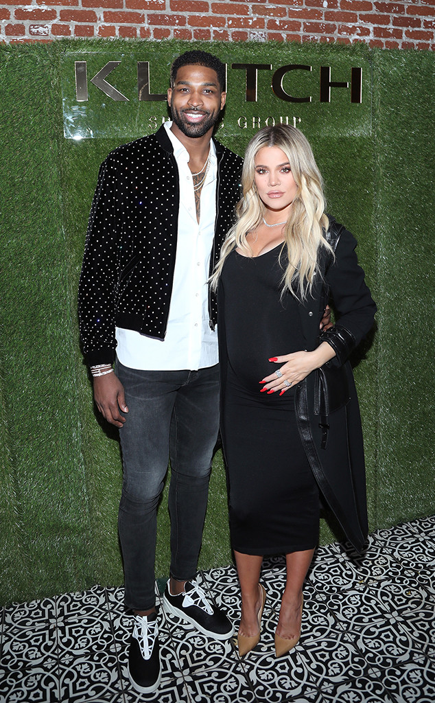 Khloe Kardashian, Tristan Thompson, Pregnant, Baby Belly, 2018 NBA All-Star Weekend Party